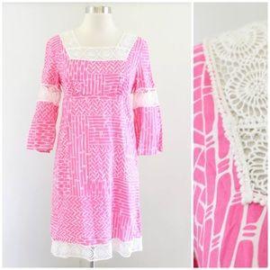 Lilly Pulitzer Chapman Bamboo Print Lace Dress